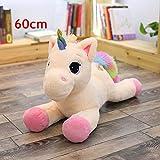 CGDX Gigante 80 / 60cm Unicorno Peluche Morbido farcito Popolare Cartone Animato Unicorno Bambole Animale Cavallo Giocattolo Alta qualità Giocattoli per Bambini Ragazze 60cm Rosa