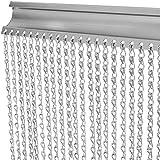 VEVOR Door Curtain Chain, Aluminum Metal Chain Curtain, 84x35 Inch Silver Room Divider Metal Door Screen Curtain (Metal Chain Curtain)