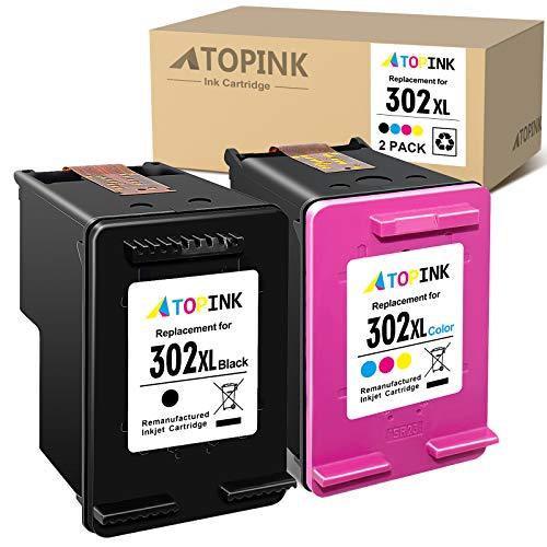 ATOPINK Cartouche d'encre reconditionnée pour HP 302 302XL pour HP Deskjet 1110 2130 3632 3630 2132 Officejet 5230 5220 3831 3830 3832 4650 Envy 4527 4520 (noir)