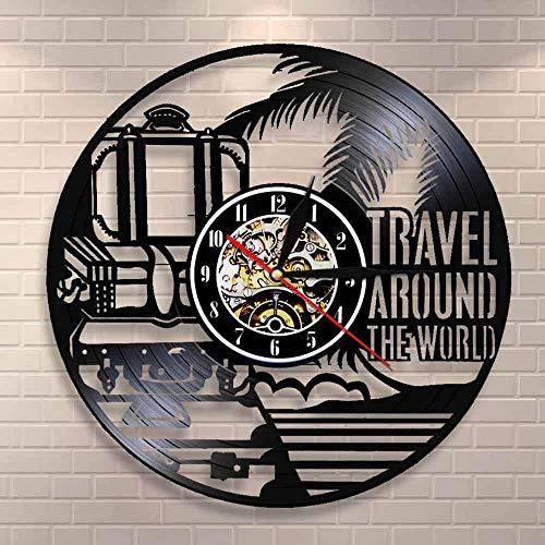 Reloj de pared para viajes alrededor del mundo de vacaciones turismo reloj...