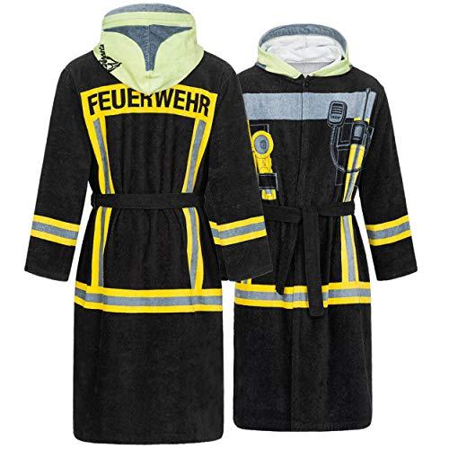 FIRE & FIGHT Streetwear Feuerwehr Bademantel HuPF Design für deinen Einsatz im Nassbereich