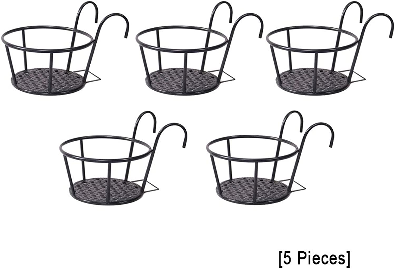 GZYQYIHJB GelNder-Topfgestell, Runde Topfpflanzerrahmen-BalkongelNder-Zaundekoration Der Pflanzenhalterung