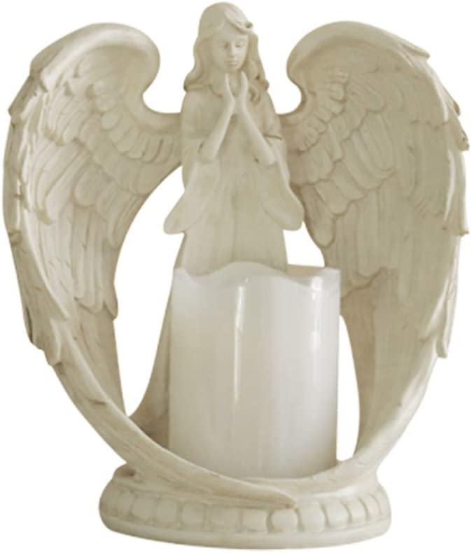 High material Max 69% OFF VOSAREA Angel Figurine Candles Flameless Lamp Christmas