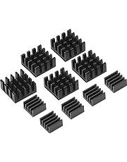 Disipador de Calor Aluminio Kit de Refrigeración para Raspberry Pi 3, Pi 2, Pi Modelo B+, Negro,10 Piezas
