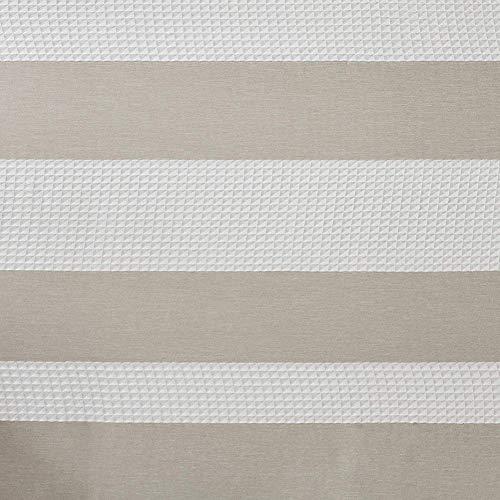litty089 Europees-Style bedrukt waterdicht polyester streep anti-schimmel badkamer douchegordijn liner met haak - Beige koffie* Beige Coffee* Beige Coffee*