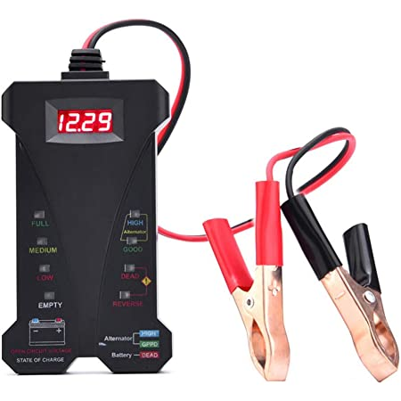12V Digital Battery Alternator Tester LED Display Volt Check For Car Motorcycle