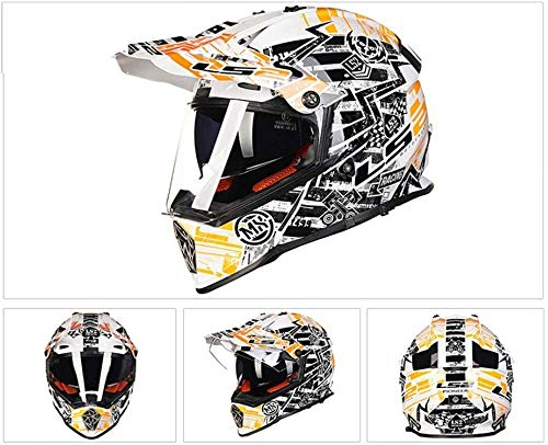 Casco para Usado para Motocicleta casco integral a campo traviesa casco integral / DOT / campo a través de los hombres scooter de cuatro ruedas casco integral con doble espejo sol / gafas Casco de car