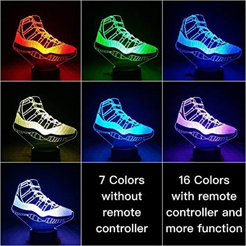 Nachtlampje Jordan 11e Generatie Boots-touch Klein Nachtlampje 7 Kleuren Touch Optische Foto Tafel Decoratie Lamp, Geschikt Voor Slaapkamer Bar Sfeerlamp