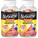 2-Pack Airborne Vitamin C Fruit Flavored Gummies 63-Count Bottle