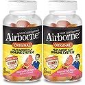2-Pack Airborne Vitamin C Fruit Flavored Gummies 63-Count Bottle