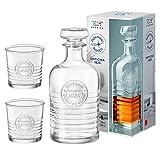 Bormioli Rocco Set Offi Cina Caraffa da whisky 100CL + 2Bicchieri da Whisky à 30CL,...