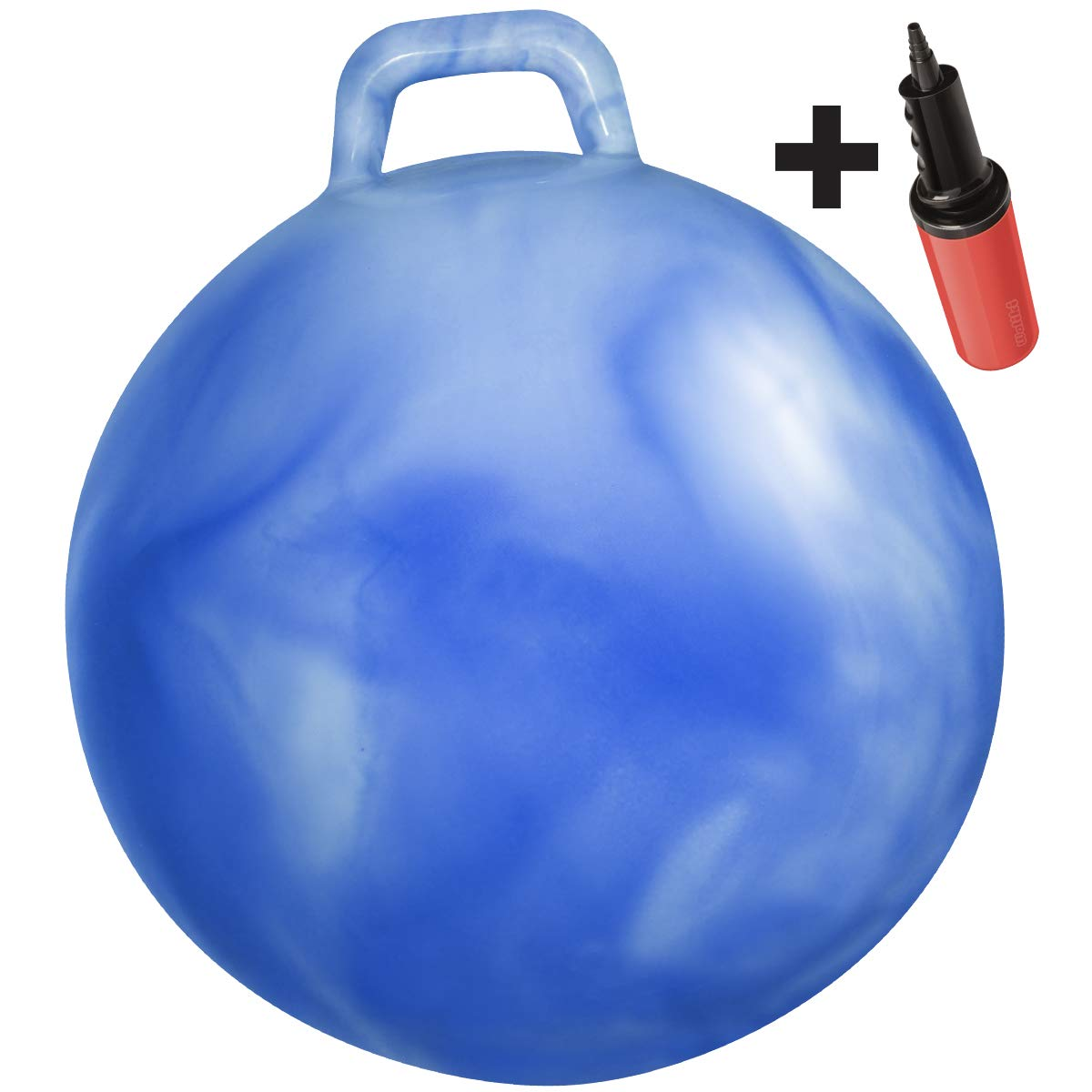 Amazon Com Waliki Toys Hopper Ball For Kids Ages 3 6 Hippity Hop Ball Hopping Ball Bouncy Ball With Handles Sit Bounce Kangaroo Bouncer Jumping Ball 18 Inches Hurricane Blue Pump Included Toys