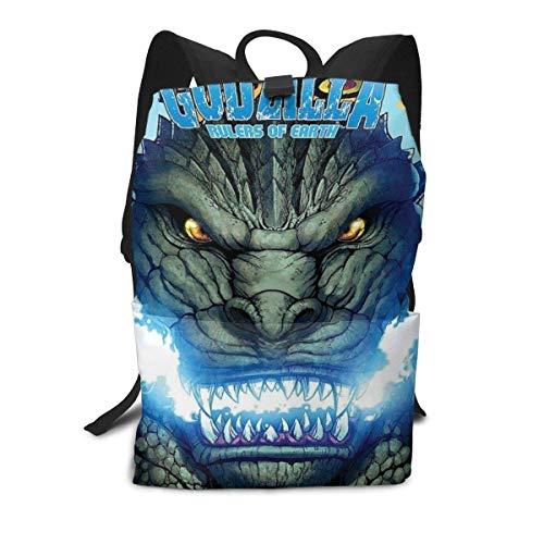 Kinder Schüler 15-Zoll-Schultasche Laptop-Rucksack, Herrscher der Erde Godzilla Print Casual Custom Lightweight Large Capacity Bookbags Daypack Umhängetasche für Jungen Mädchen