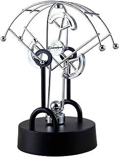 ZAVAREA Ventilador Movimiento Perpetuo Péndulo Esférico Juguete Orbital Rotación Bilateral Magnética Juguete de Oscilación Física Newton Cradle Decoration Craft