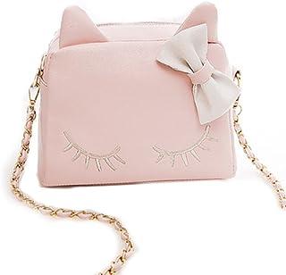 Women Bag,New Design Fashion Girls Cute PU Leather Cat Messenger Tote Shoulder Bag