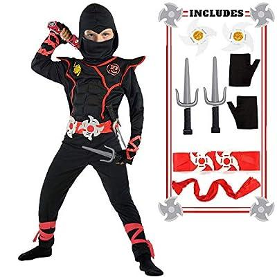 Ninja Costume Boy Halloween Kids Costume Boy Ninja Muscle Costume With Ninja Foam Accessories Best Children Gift