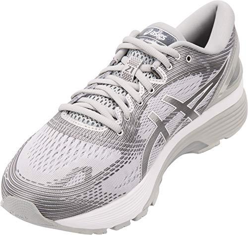 ASICS Men's Gel-Nimbus 21 Running Shoes, 12M, MID Grey/Silver
