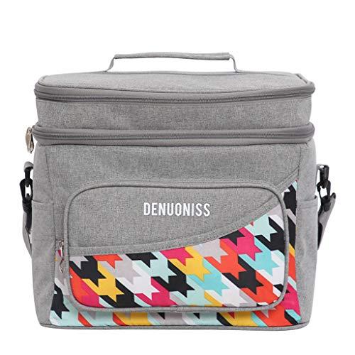 HLD Waterdichte aluminium folie isolatie Bag Gekoelde Lekvrije Ice Bag multifunctionele Lunch Box Bag met grote capaciteit Meal Bag Picknickrugzakken (Color : C)