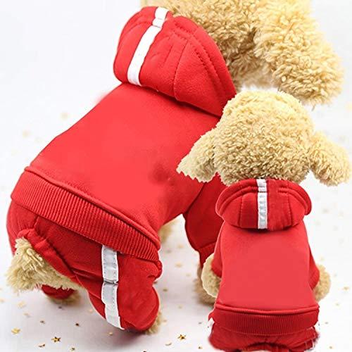 Qiuge 2 stücke Pet Fleece Hundekleidung, Kleidung, grundlegender Hoodie Pullover, Haustier Hund Kleidung for Hunde Overalls Pet Jumpsuit Welpen Katze Kleidung for Hund Mantel Dicke Haustiere Hunde Kle