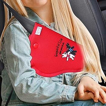 Gaspard and Lisa seat Belt Adjuster for Kids seat Belt Adjuster Baby Belt Seatbelt Cover car seat Belt Cover RED