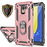 YmhxcY Galaxy J6 Case with Tempered Glass Screen Protector