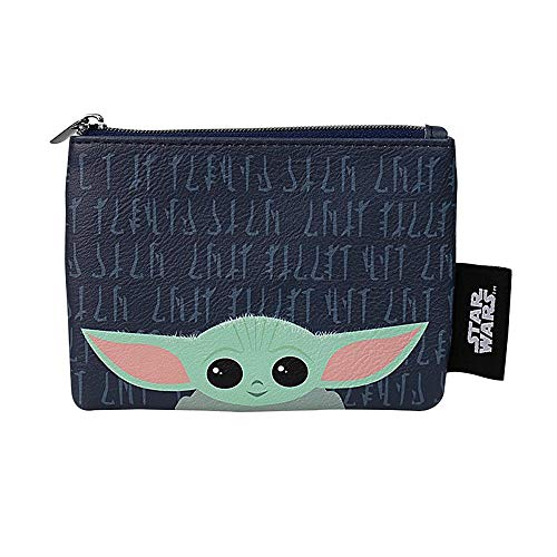Portatarjetas de Star Wars Mandalorian The Child pequeño con cremallera