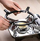 Wok Ring, Carbon Steel Wok Ring for Gas Stove Burner, Non Slip Wok Support Stand for Cauldron Cast...