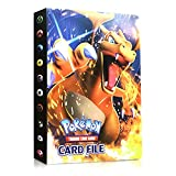 Funmo Álbum de Pokemon, Álbum Titular de Tarjetas Pokémon Pokemon Cards Album Pokemon Cards Album Book La Mejor protección para Pokemon Trading Cards GX EX (Charizard)