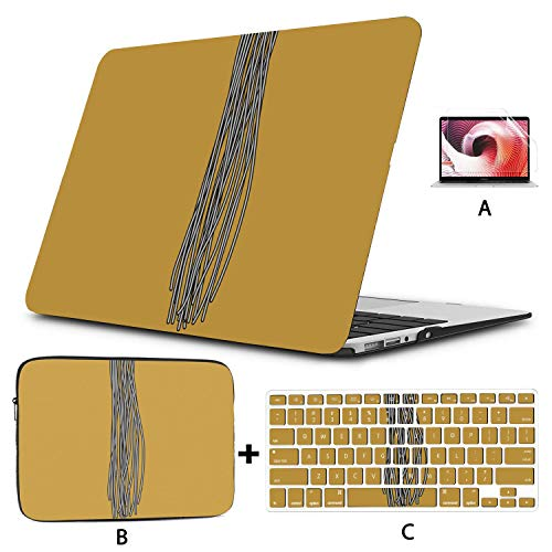 Protective MacBook Pro Case Noodle Food Into Chopsticks Laptop Hard Cover Hard Shell Mac Air 11'/13' Pro 13'/15'/16' with Notebook Sleeve Bag for MacBook 2008-2020 Version