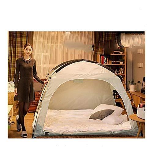 LEGOUGOU Vloerloze Indoor Privacy Tent Op Bed Met Kleur Palen Voor Gezellige Slaap In Drafty Kamers,200 * 120 * 135cm Multifunctionele Waterdichte zonnescherm schaduw