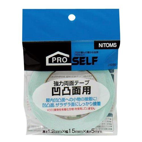 ニトムズ 強力両面テープ 凹凸面用 15mm×5m J1291