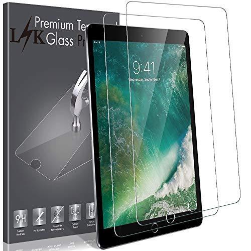 LK 2 PACK Screen Protector Compatible With iPad Mini/iPad Mini 2 / iPad Mini 3 Tempered Glass 9H Hardness HD Transparent, Case Friendly