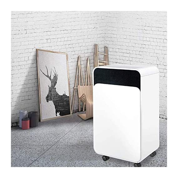 WQSFD 30Pint Dehumidifiers 4 Gallons/Day Intelligent Humidity Control for Space Up to 1000 Sq Ft for Home Basements… 7 30 Pints Dehumidifier: With removal capacity of up to 30 pints of water per day (under 90% RH @ 95°F condition), this energy-efficient dehumidifier is ideal to dehumidify damp rooms up to 1056 sq ft, like attics, basements, bathrooms, laundry room, garages, and even campers or RV. Easy-to-use Dehumidifier: With a built-in humidistat, this smart dehumidifier will AUTO-STOP when set humidity level has been met and AUTO-RESTART when room humidity goes up again. The switchable fan speed add flexibility and the programmable 24H ON/OFF improves energy savings. User-friendly Drainage Options: This small dehumidifier will auto shut off when the 4-Pint (0.5 Gal.) water reservoir is full and audibly alert you to empty it. Too busy to empty it manually? This dehumidifier with drain hose (6.56-ft) allows you to simply attach the hose to achieve self-draining by gravity.