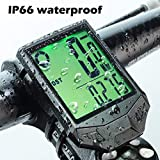 PRUNUS Bike Speedometer and Odometer Wireless Waterproof Bicycle Computer with Digital LCD Display, Automatic Wake-up and Calorie Counter for Outdoor MTB Road Cycling and Fitness