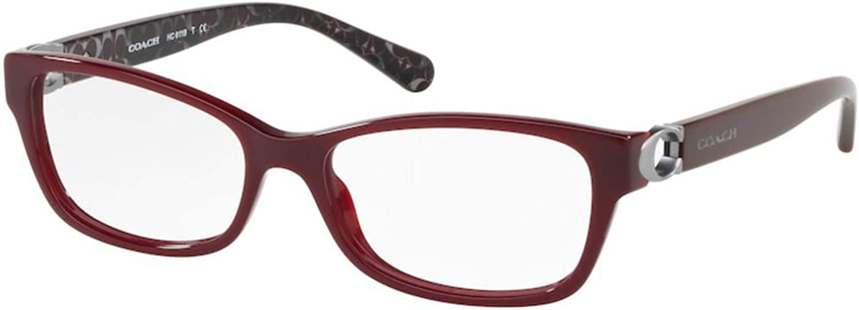 Coach online shopping Women's HC6119 Eyeglasses Very popular Oxblood Demo 53mm