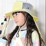 FELLOW フェロー ビーチハット 全30色 UVカット 子供 サーフハット サファリハット キッズ 帽子 フリーサイズ プール 紫外線対策 UPF50+ パステルイエロー S 54cm