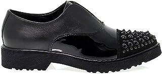 CULT Women's CULT102269 Black Leather Lace-Up Shoes