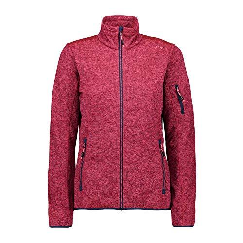 CMP Leichte Fleece-Strickjacke mit Netz Blue-Gloss 42 Lightweight Knitted Fleece Jacket with Mesh