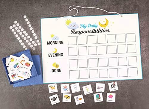 Inkdotpot Kinder Täglich Verantwortung Checkliste, Chart- Kinder Job Plakat- Morgens/Abends Täglich Routine Tägliche Aufgabenliste-Wby Hängen Lästige Pflicht