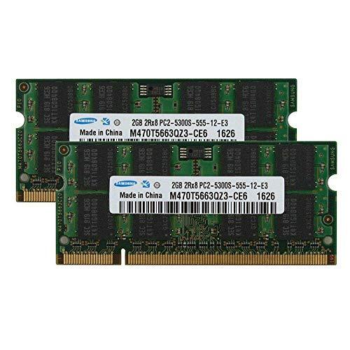 4GB (2 X 2GB) DDR2-667 PC2-5300S Memoria Trabajo RAM Noteboo