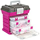 Creative Options 1363-85 Grab N' Go Rack System with Two No.2-3630 Deep Pro-Latch Organizers and One No.2-3650 Organizer, Magenta/Sparkle Gray,Medium