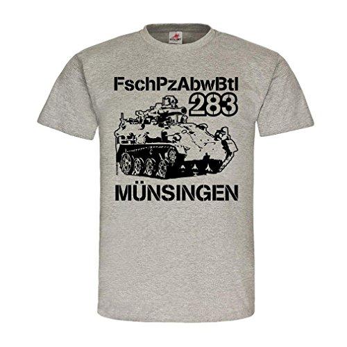 Copytec FschPzAbwBtl 283 Tow Wiesel_Münsingen Fallschirmpanzerabwehrbataillon Bundeswehr Einheit Fallschirmjäger Panzer #21398, Größe:M, Farbe:Grau