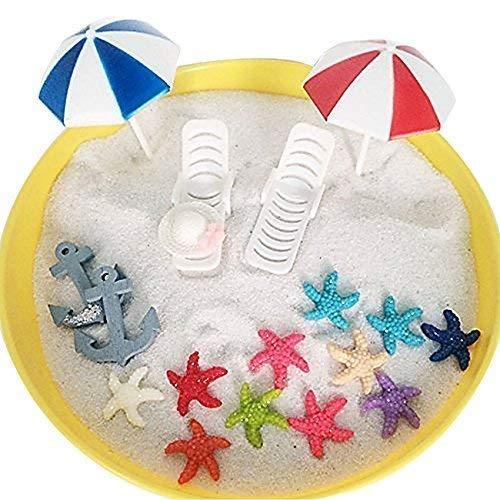 musykrafties Plastik Sommer Strand Stühle mit Regenschirme Aquarium Terrarien Miniatur Fee Gärten Puppenhaus Tortenaufsatz Cupcake Dekoration
