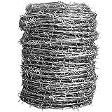 ダイドーハント (DAIDOHANT) ( 有刺鉄線 ) バーブ [ 鉄 ・ 亜鉛メッキ ] [太さ] #16 1.6 mm x [長さ] 100m 付属品: 又釘 (約60本)・軍手 55782