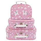 Sass Belle - Valise, Trolley - Set de 3 valisettes Licorne
