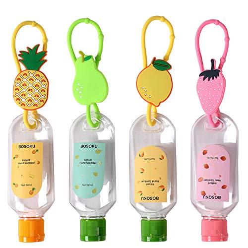 Botellas de viaje con clips 30ml vacíos titulares líquidos para desinfectante de manos artículos de tocador champú cosmético