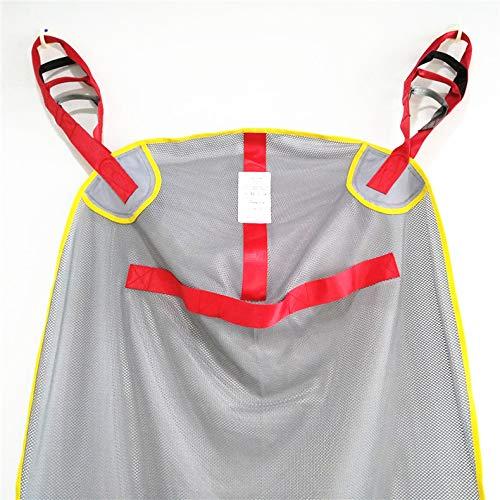 51UOZ17MAeL - DZWJ Esparcidor de Honda de protección Transpirable en Forma de Red Ayuda al Paciente Bariátrica Resistente de Malla de Cuerpo Completo Eslinga de elevación del Paciente