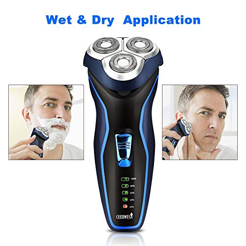 Ceenwes Electric Razor with Pop-up Trimmer Rechargeable Electric Shaver - Green_12