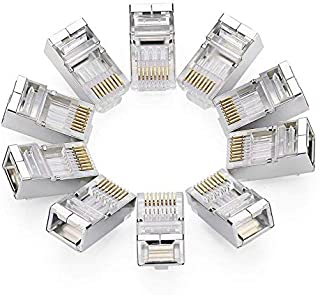 Ewigkeit 10 Pack RJ45 Connector Cat6 Crimp Connector Cat5E Cat5 Ethernet Network Cable Plug Modular Crystal 8P8C