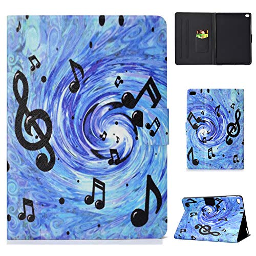 Jajacase Hülle für iPad 9.7 Zoll 2017/2018 - PU Leder,Kratzfeste Schutzhülle Cover Hülle Tasche mit Standfunktion,Musikwirbel